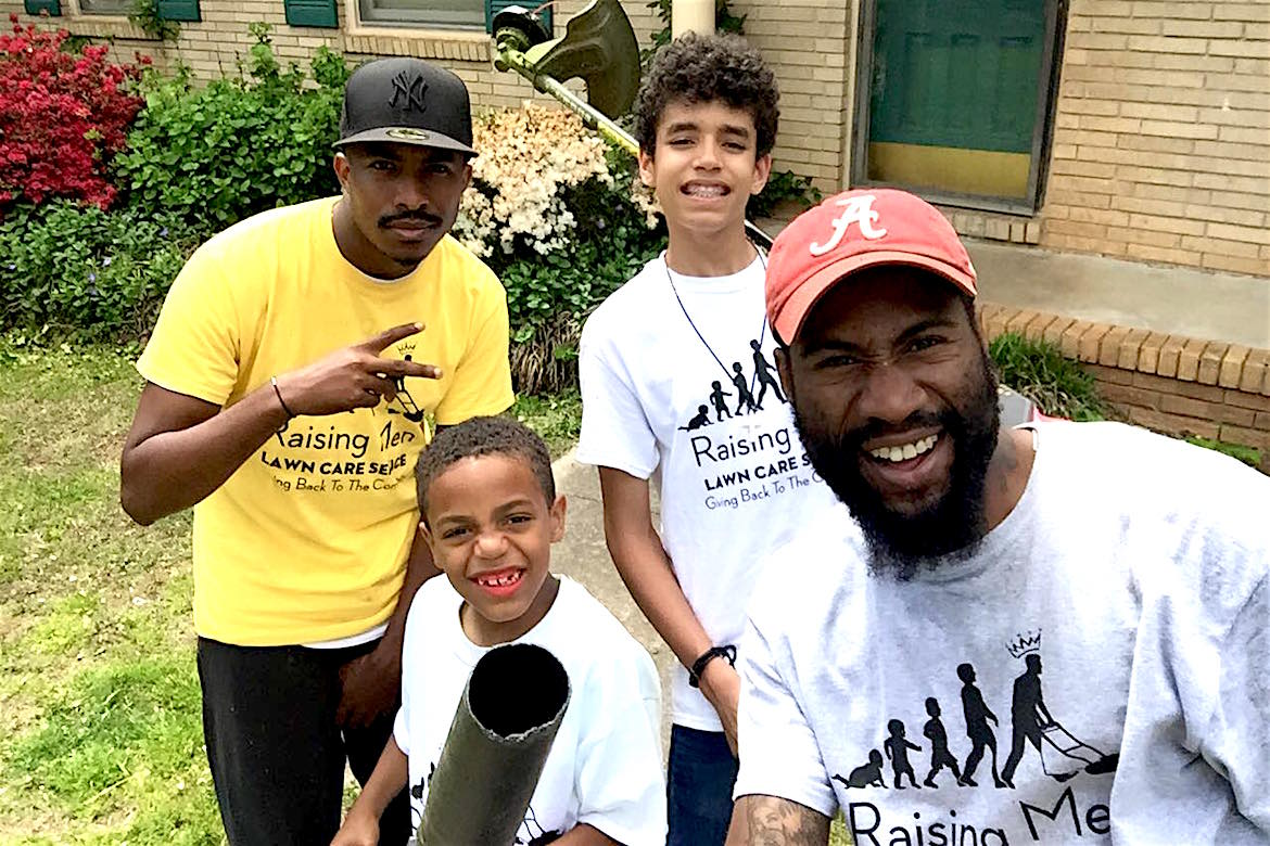 Black Men Lawn Care Service, Community Charity, Giving Back, Raising Boys, KOLUMN Magazine, Kolumn