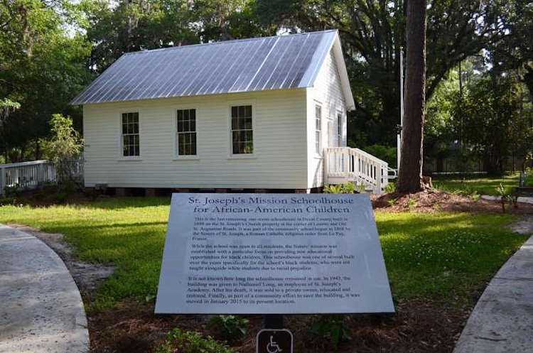 A one-room schoolhouse built in 1898 to educate the children of freed slaves opened as a museum in Jacksonville on Saturday. Its new home is Walter Jones Historical Park in Mandarin.