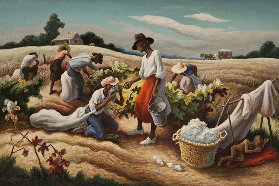 Earle Richardson, Thomas Hart Benton, Eli Whitney, Cotton Gin, KOLUMN Magazine, KOLUMN