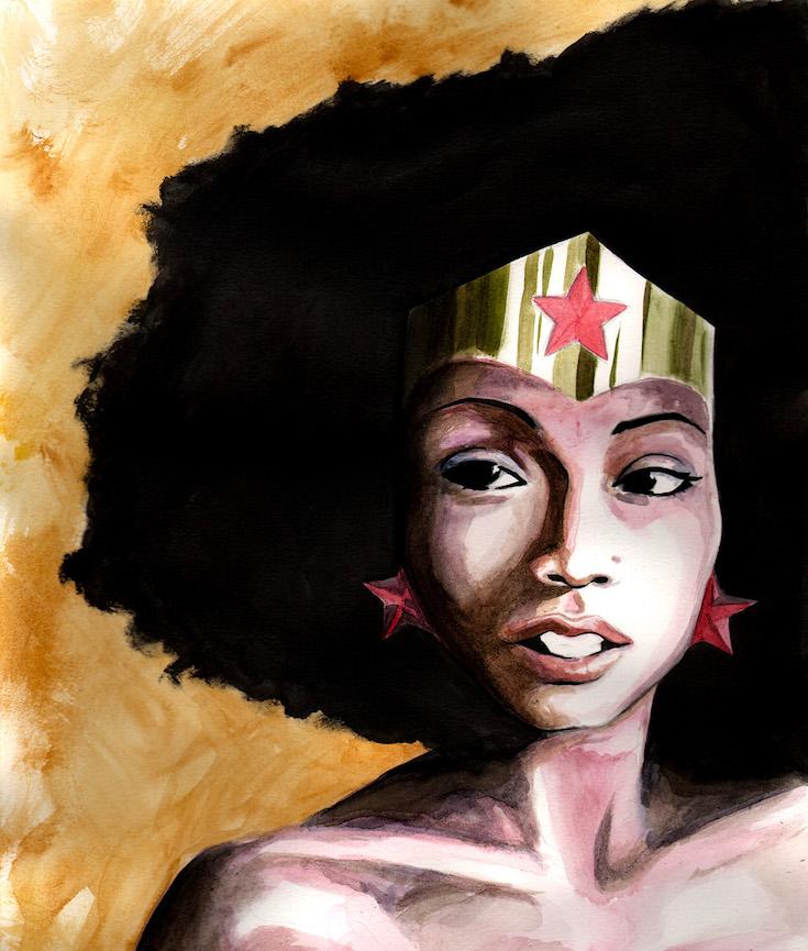 Wonder Woman, African American Super Heroes, Black Super Heroes, African American Cartoonist, KOUMN Magazine, KOLUMN