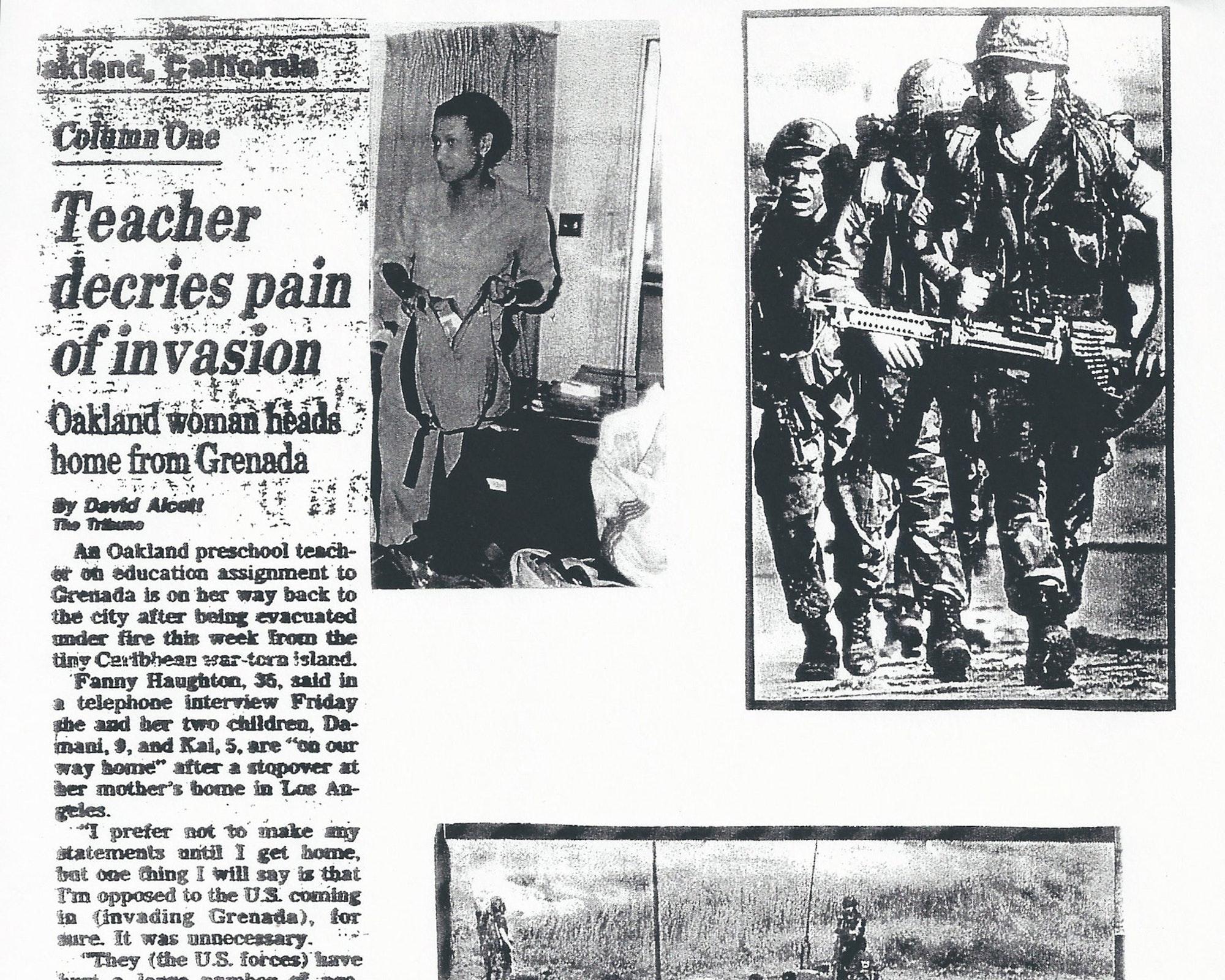 Black History, United States Military, Military Invasion, Invasion of Grenada, Maurice Bishop, Jacqueline Creft, Fannie Haughton, Angela Davis, Black Panthers, KOLUMN Magazine, KOLUMN