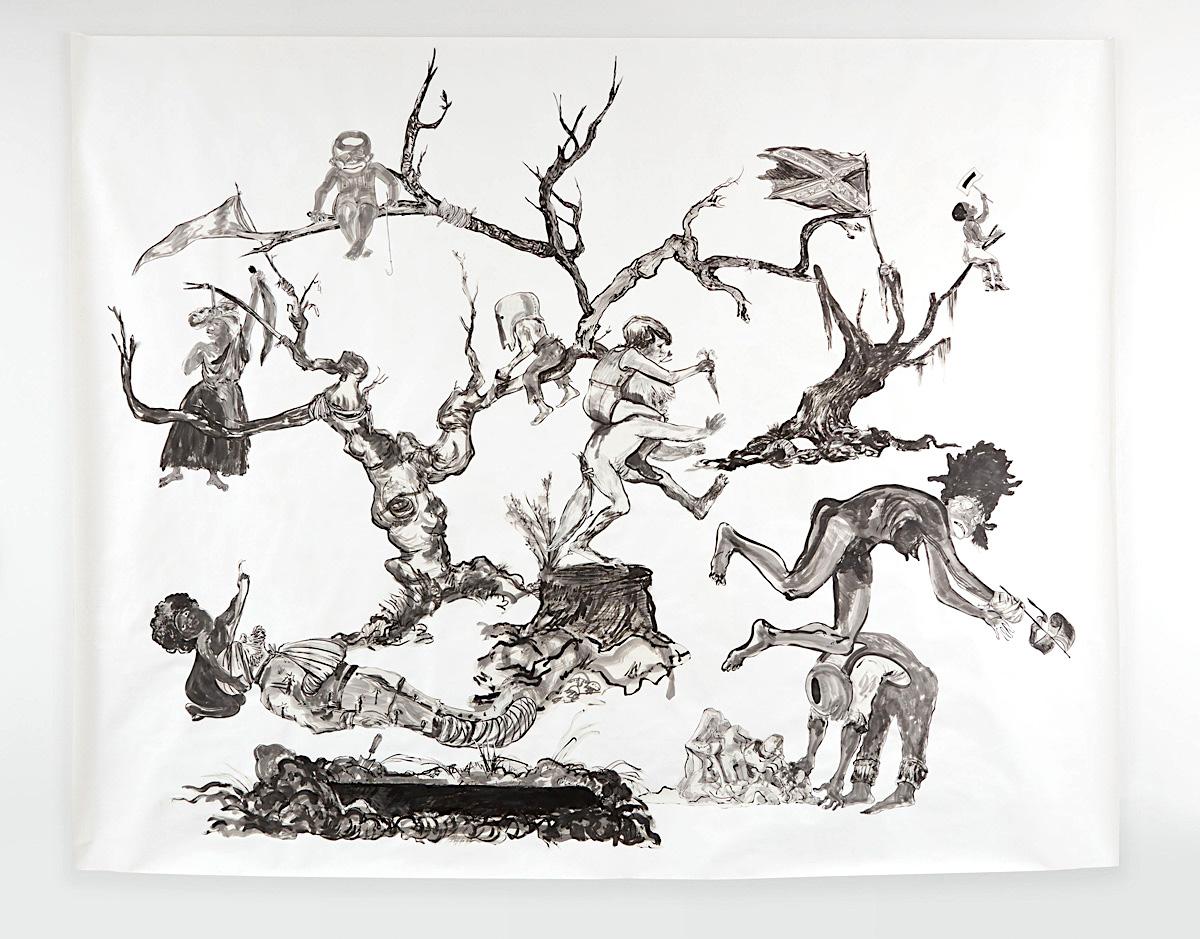 "Kara Walker, The Pool Party of Sardanapalus, The (Private) Memorial Garden of Grandison Harris, ""U.S.A. Idioms"", African American Art, Black Art, KOLUMN Magazine, KOLUMN"
