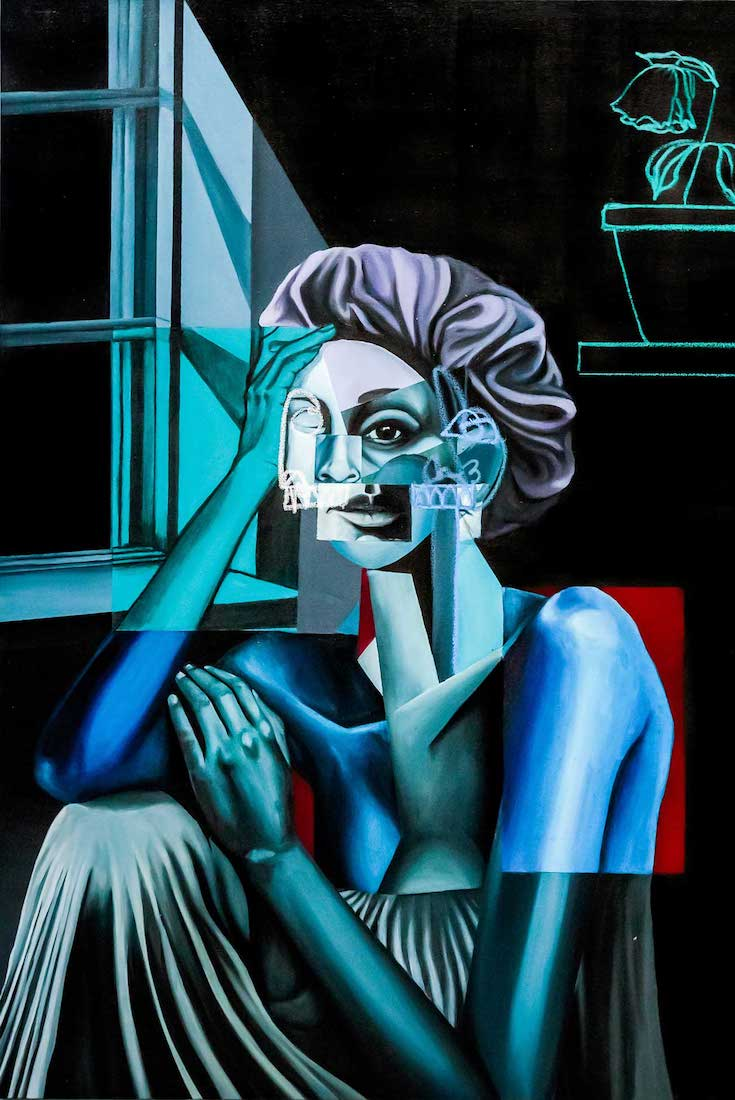 Blk & Blue at ABXY Gallery, Malik Roberts, African American Art, Black Art, KINDR'D Magazine, KINDR'D, KOLUMN Magazine, KOLUMN, Willoughby Avenue