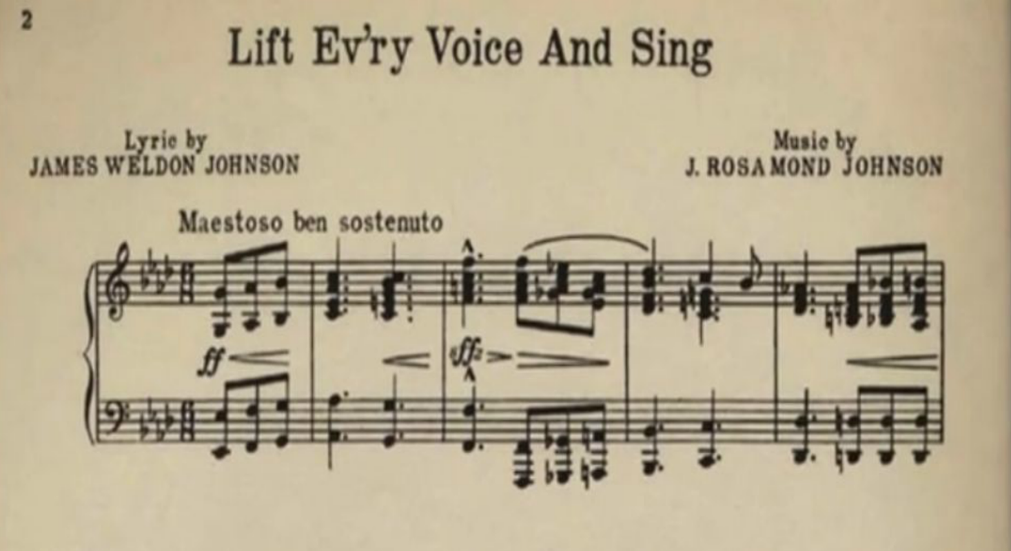 Lift Every Voice & Sing, Lift Every Voice and Sing, James Weldon Johnson, John Rosamond Johnson, African American National Anthem, Black National Anthem, African American History, Black History, KOLUMN Magazine, KOLUMN, KINDR'D Magazine, KINDR'D, Willoughby Avenue, WRIIT, Wriit,