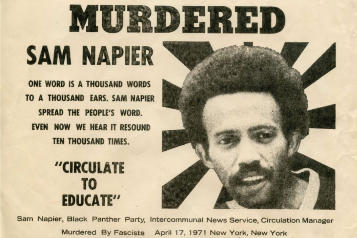 Sam Napier, Black Panther, Black Panther Party, African American History, Black History, KOLUMN Magazine, KOLUMN, KINDR'D Magazine, KINDR'D, Willoughby Avenue, WRIIT, Wriit,