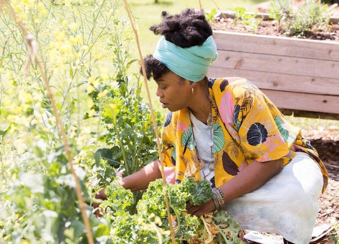 Amina Robinson, Gardening, African American Farmers, Black Farmersm Urban Farms, Urban Farmers, KOLUMN Magazine, KOLUMN, KINDR'D Magazine, KINDR'D, Willoughby Avenue, Wriit,