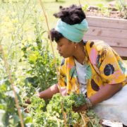 Amina Robinson, Gardening, African American Farmers, Black Farmersm Urban Farms, Urban Farmers, KOLUMN Magazine, KOLUMN, KINDR'D Magazine, KINDR'D, Willoughby Avenue, Wriit,