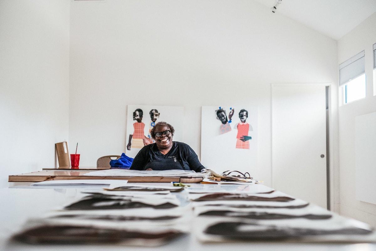 Deborah Roberts, African American Art, African American Artist, Black Art, Black Artist, KOLUMN Magazine, KOLUMN, KINDR'D Magazine, KINDR'D, Willoughby Avenue, Wriit,