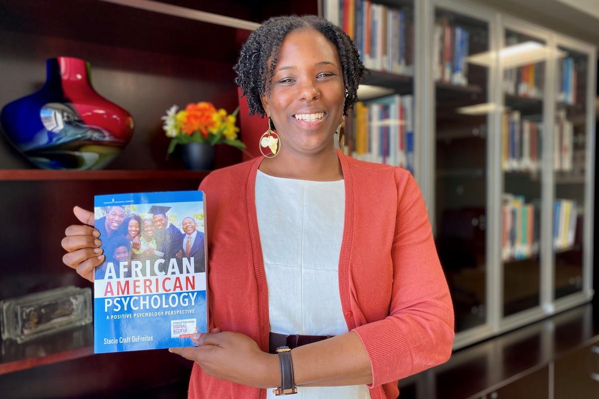 Stacie DeFreitas, African American Psychology: A Positive Psychology Perspective, African American Professor, Black Professor, African American Author, Black Author, KOLUMN Magazine, KOLUMN, KINDR'D Magazine, KINDR'D, Willouhgby Avenue, Wriit,