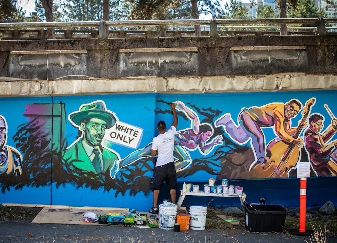 Vancouver Mural Fest, Murals, Artist, African American Art, Black Art, African American Artists, Black Artists, KOLUMN Magazine, KOLUMN, KINDR'D Magazine, KINDR'D, Willoughby Avenue, Wriit,