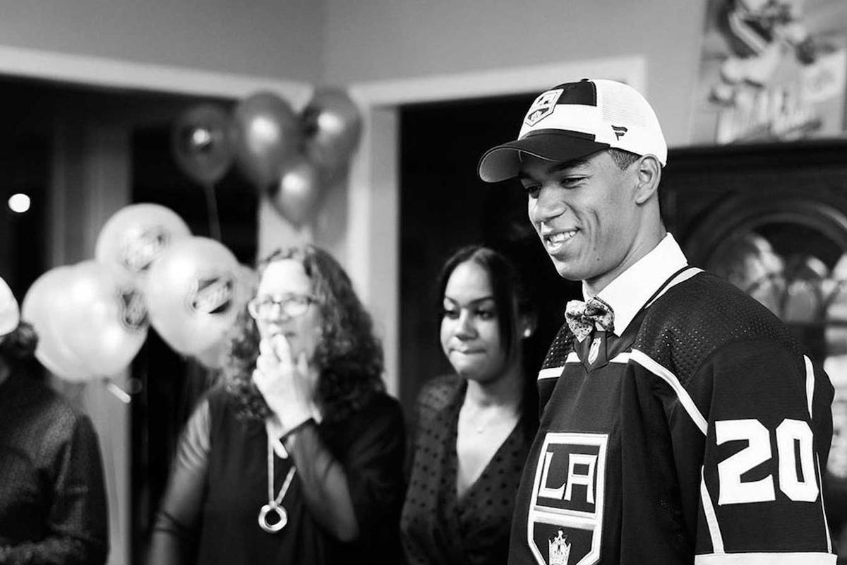 Quinton Byfield, African American Athlete, Black Athlete, NHL, African American Hockey Player, Black Hockey Player, KOLUMN Magazine, KOLUMN, KINDR'D Magazine, KINDR'D, Willoughby Avenue, WRIIT, TRYB,